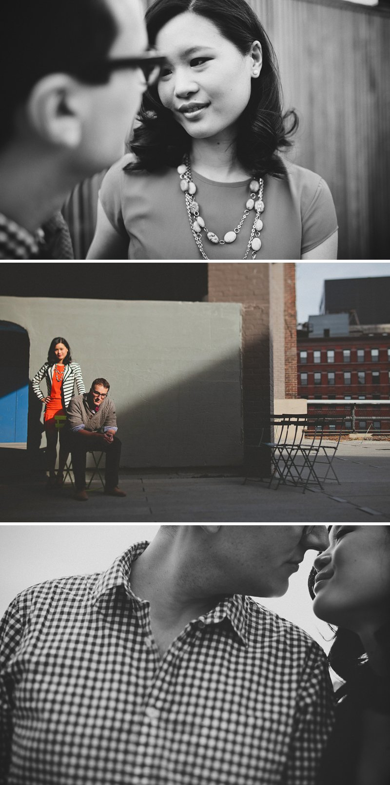 nyc highline engagement session