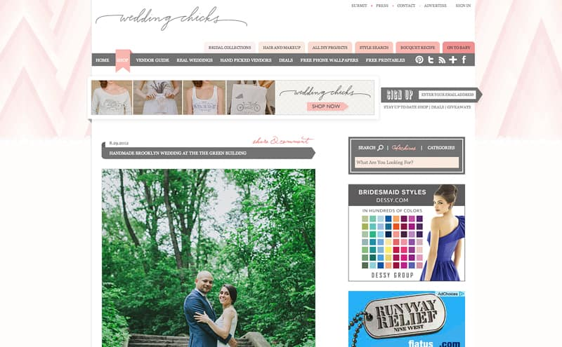 wedding chicks blog brooklyn handmade hipster Catee and David | Published