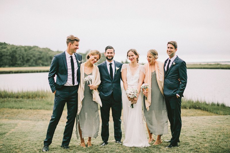 stylish bridal party hamptons 2