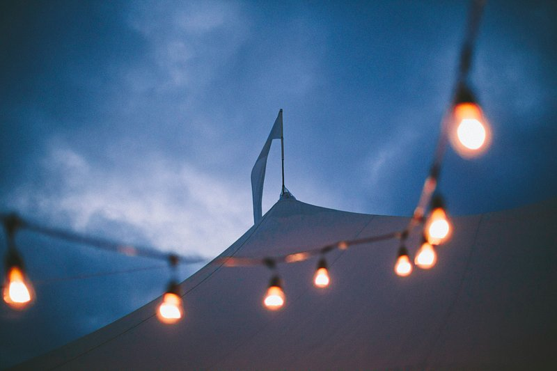 tent wedding on farm montauk