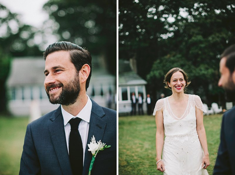 hamptons backyard wedding ceremony