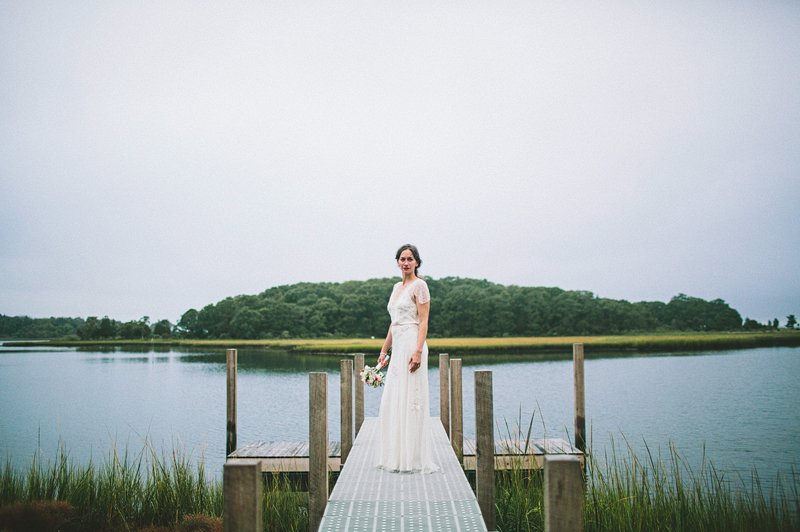 bride on pier hamptons 2