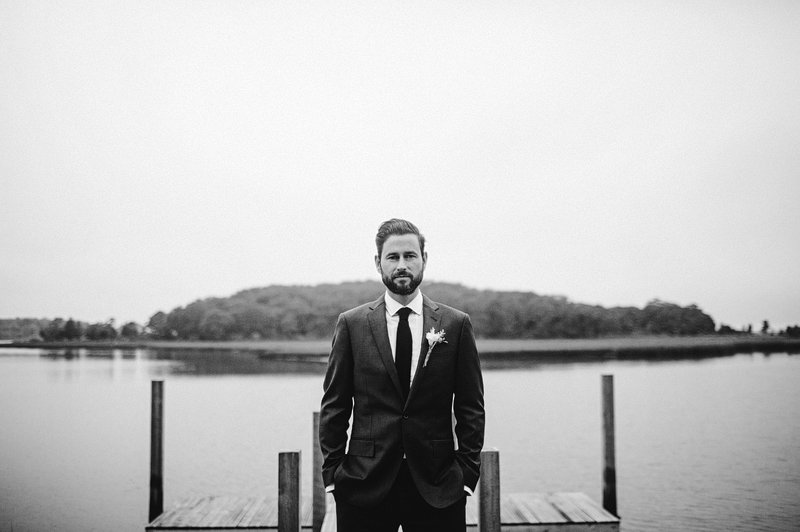 groom on pier hamptons