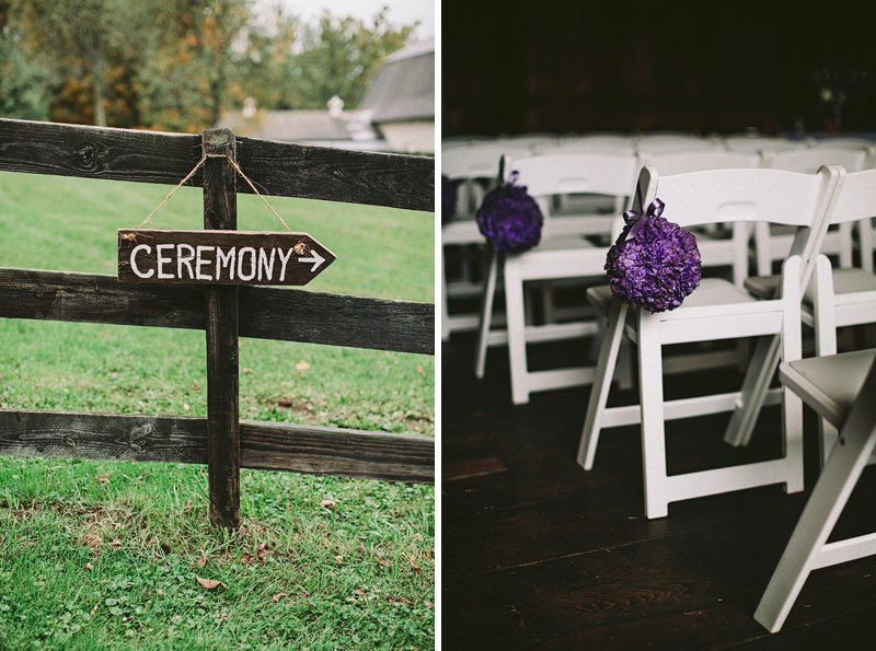 wedding ceremony at tralee farm