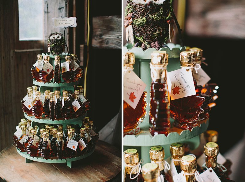 maple syrup at wedding