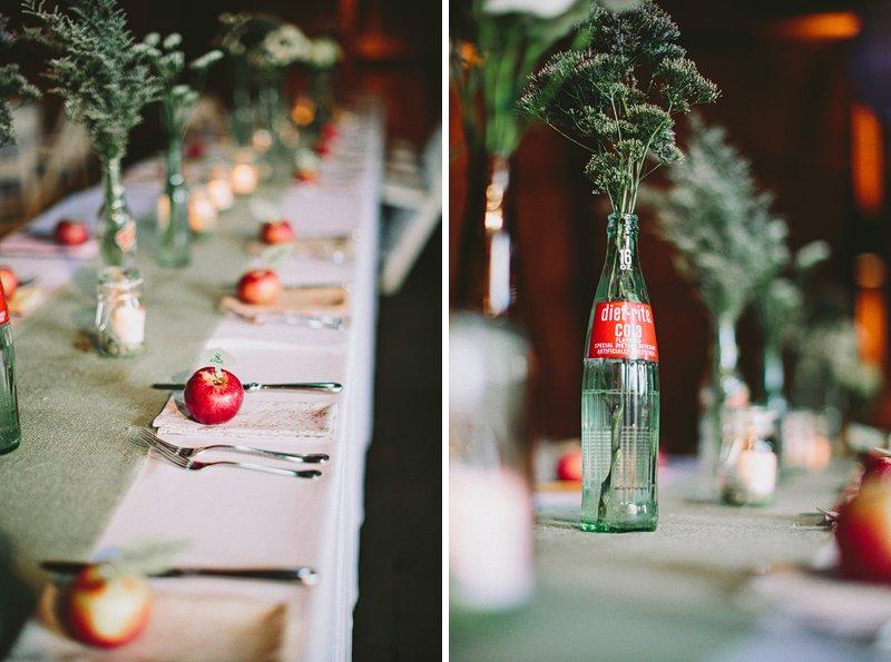 table setting ideas at tralee farm wedding