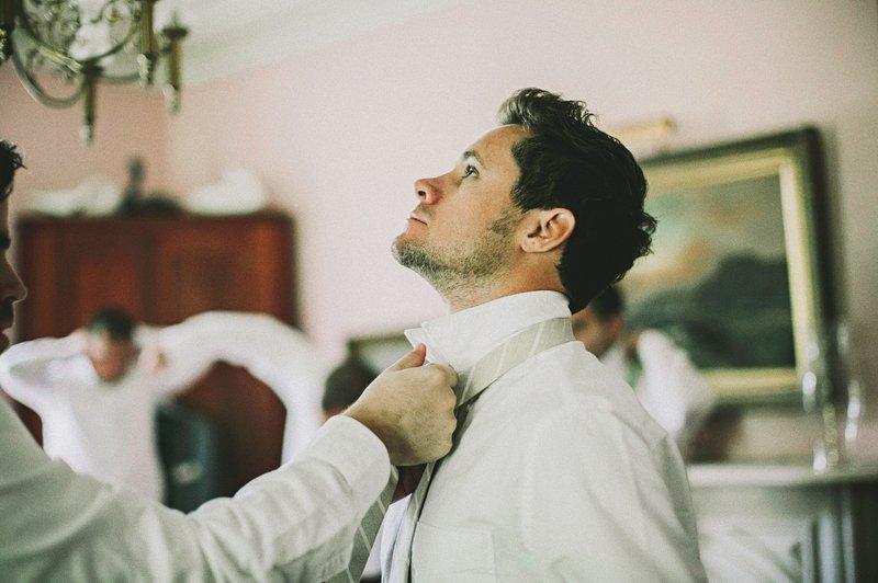 groomsmen getting ready at tralee farm ny