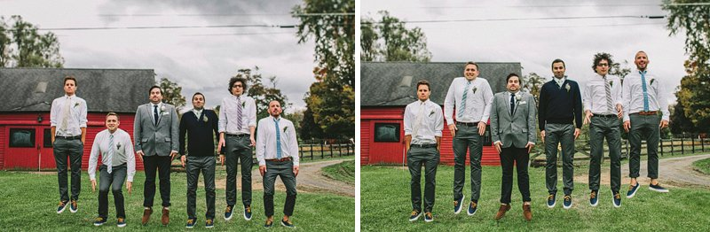 groomsmen at tralee farm