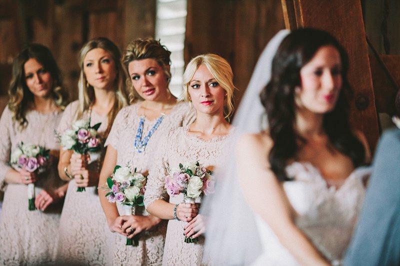 bridesmaids at tralee farm hudson valley