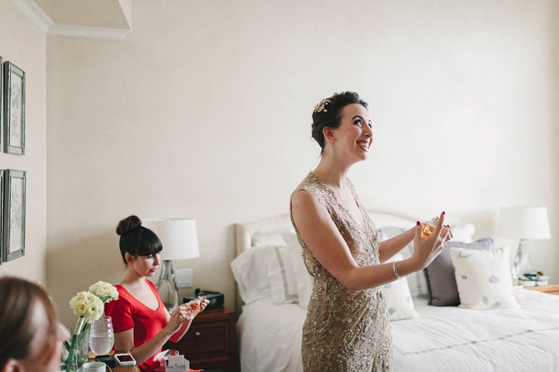 bride getting ready in nyc