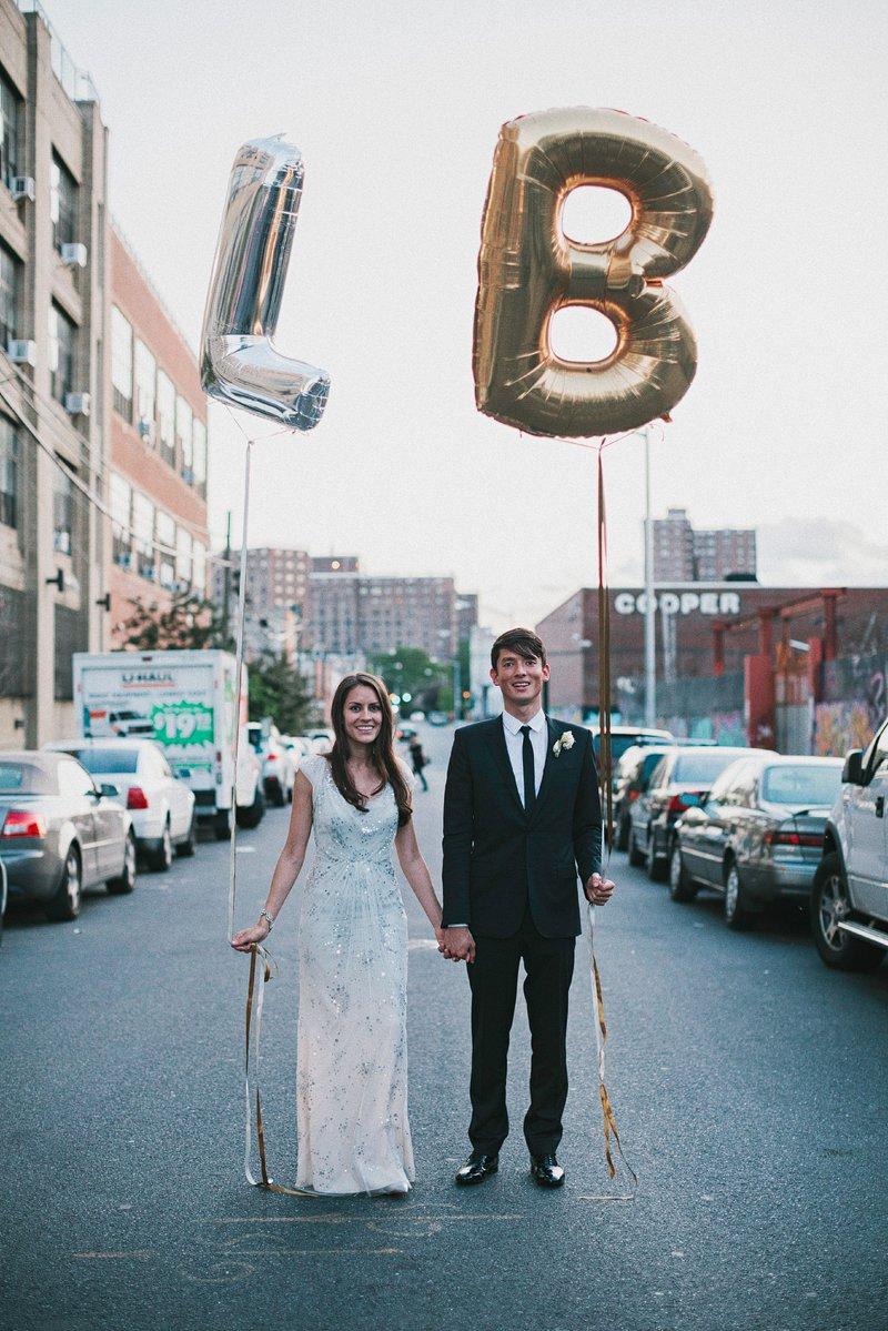 custom letter balloons wedding