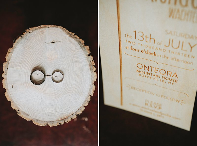 custom wood wedding invitation