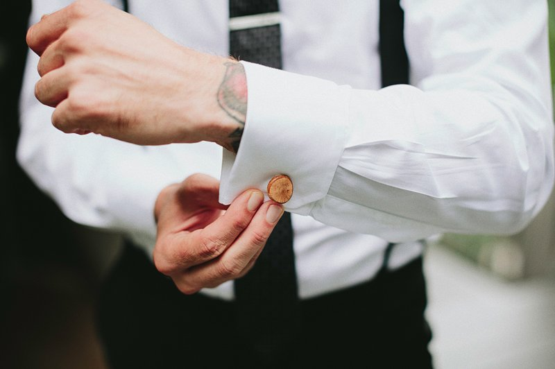 custom wood cufflinks wedding