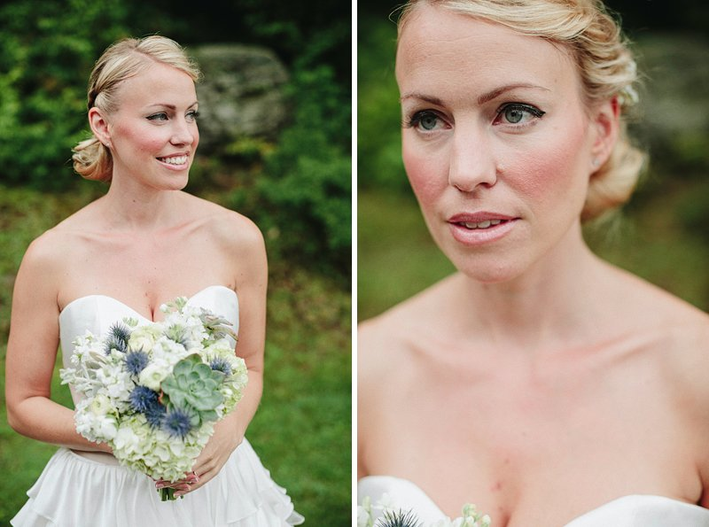 rustic chic bride hair