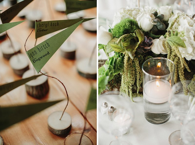 rustic woodsy table settings wedding 2