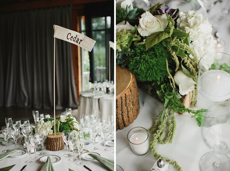 rustic woodsy table settings wedding 4