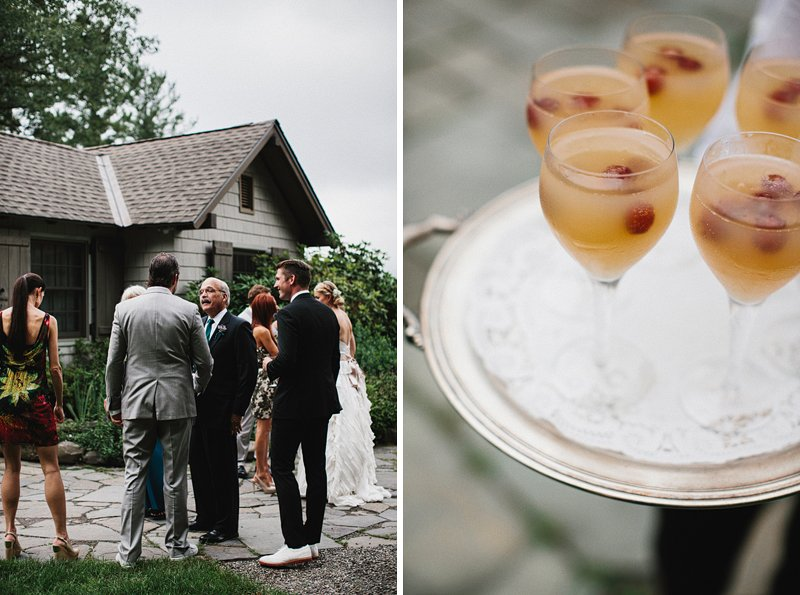 cocktail hour onteora mountain house wedding