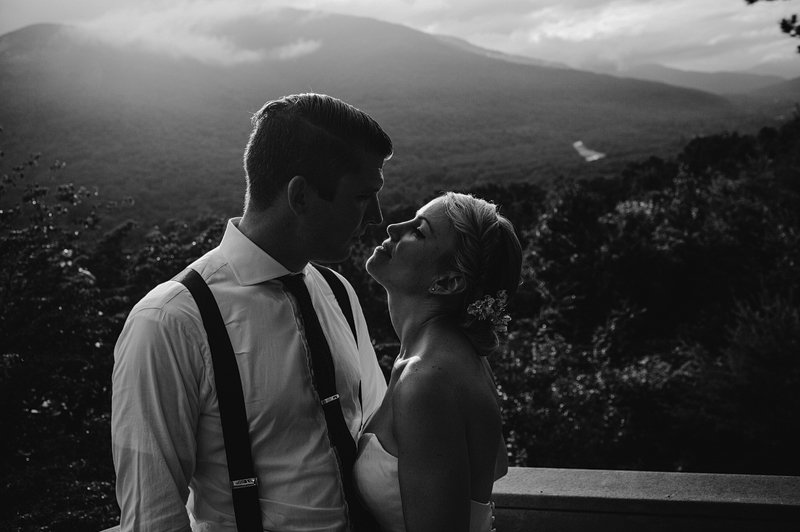 sunset catskills wedding