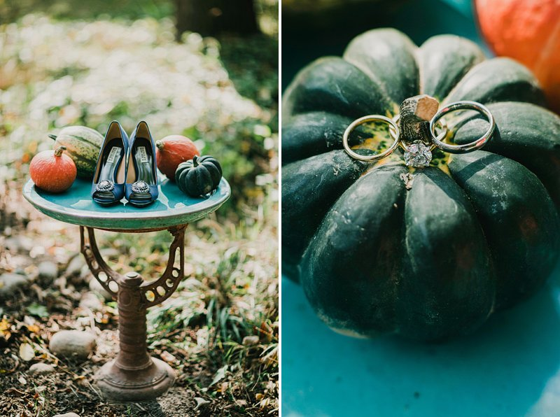 fall theme outdoor wedding