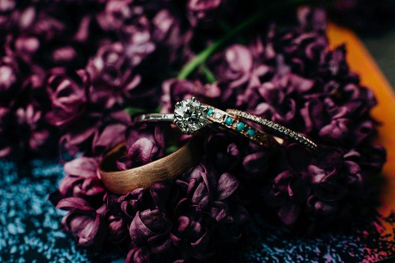 custom wedding rings hipster
