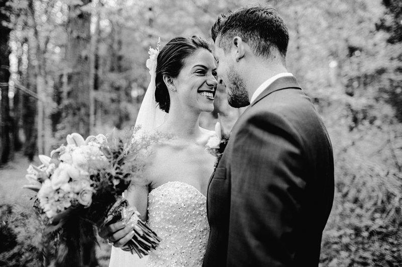 bride and groom catskills farm wedding 1