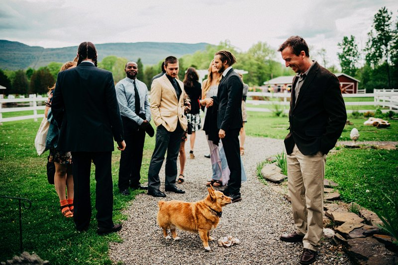 wedding guests at kaaterskill inn new york