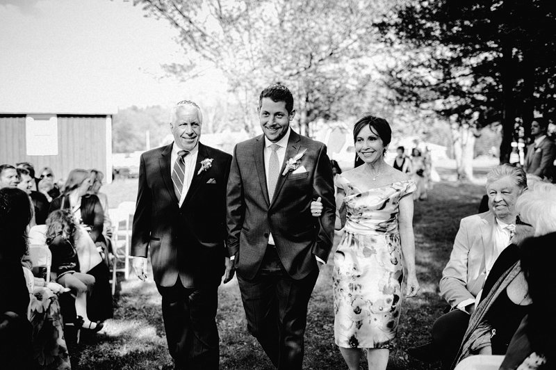 catskills farm wedding ceremony 1