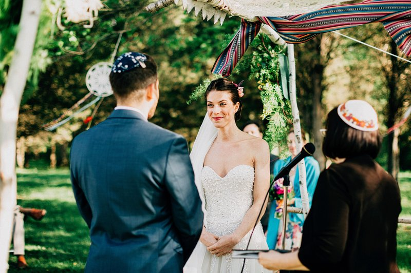 hipster wedding ceremony hudson valley