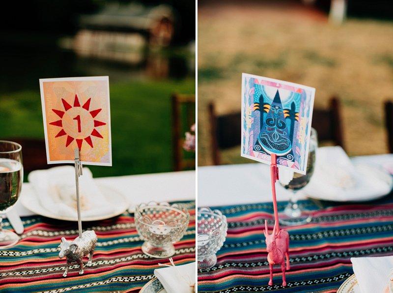 hippie table setting wedding farm 1