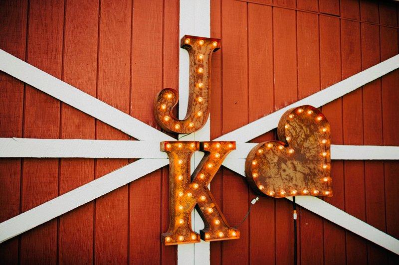 custom big lettering wedding