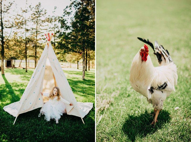 teepee wedding on farm