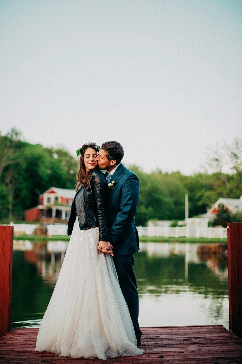 leather jacket bride hudson valley
