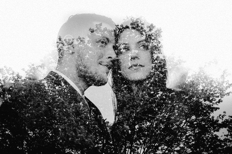 double exposure canon 5d wedding
