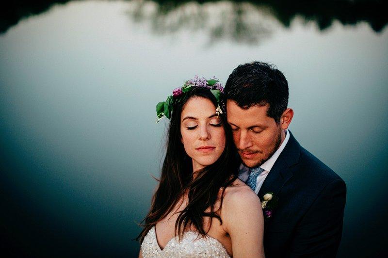 sunset wedding hudson valley farm