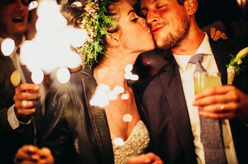 sparklers at wedding hudson valley farm 3