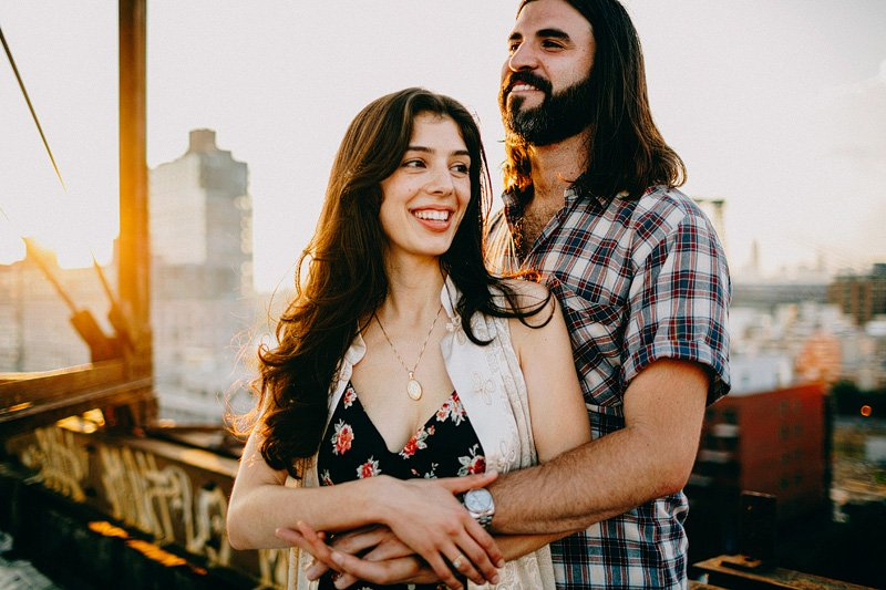 Sunset Engagement in Brooklyn