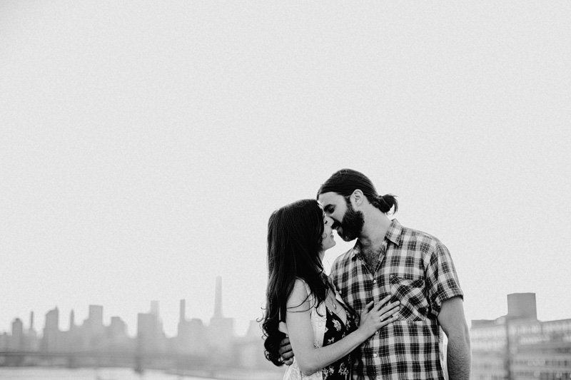 Rooftop Engagement Session in Brooklyn