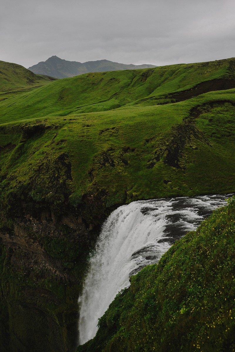 skogafoss iceland waterfall leica