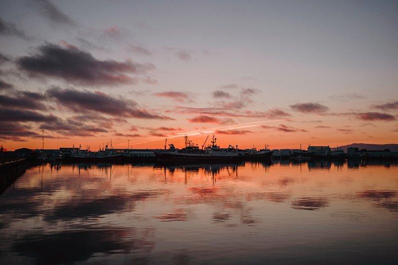 sunset reykjavik