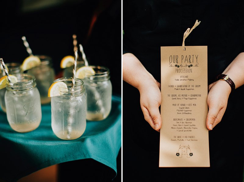 lemonade wedding jar
