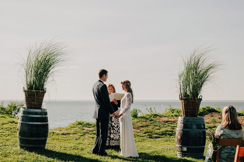 boho chic wedding ceremony long island