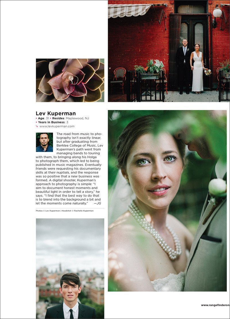 Lev Kuperman Rangefinder Magazine 30 Rising Stars of Wedding Photography