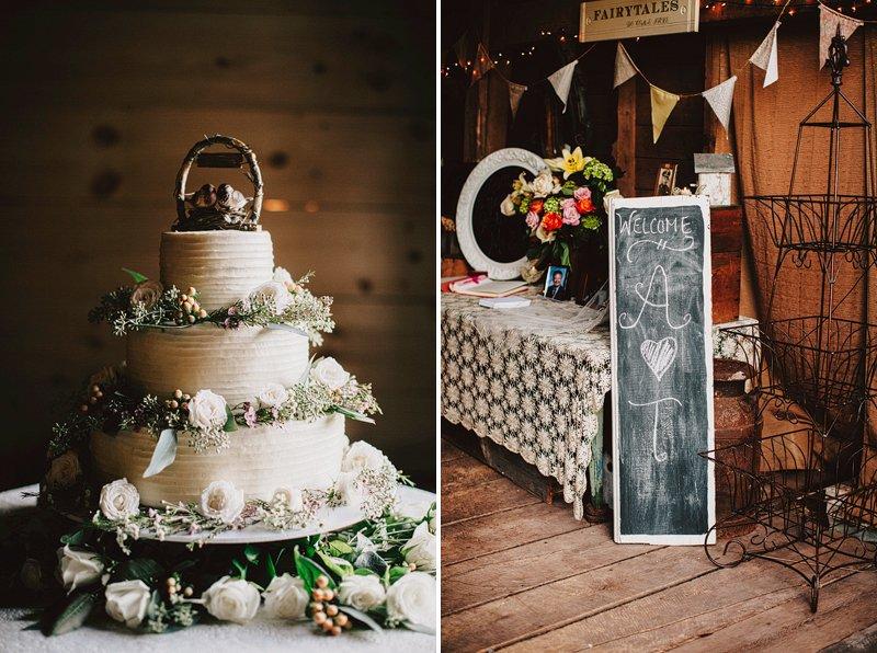 hipster wedding cake