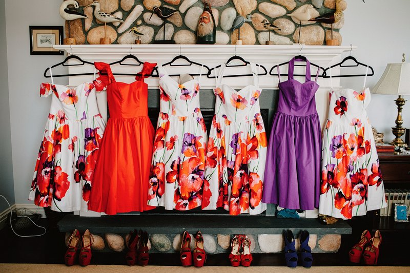 colorful bridesmaids dresses