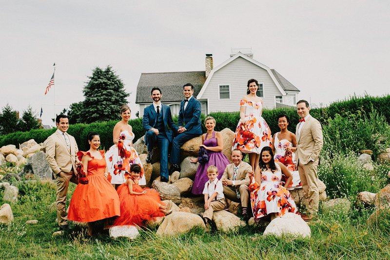 vogue style wedding party photos