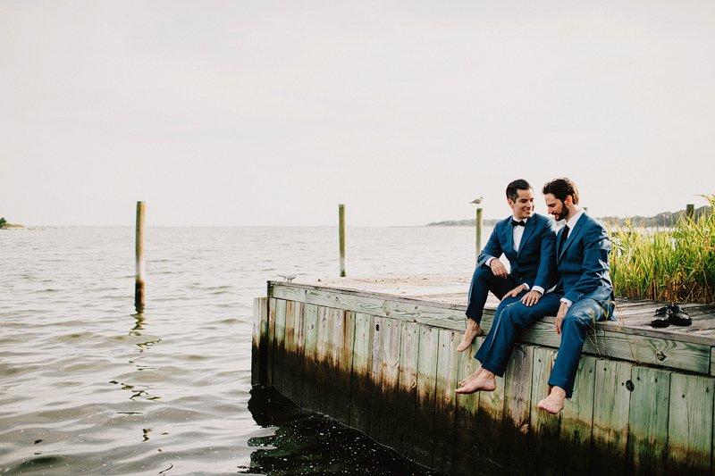 sunset photos fire island gay wedding 2