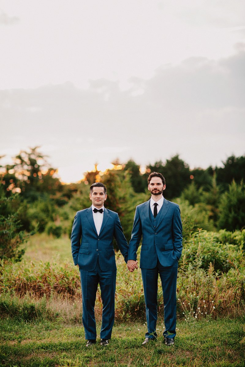 gay wedding photographer long island sunset