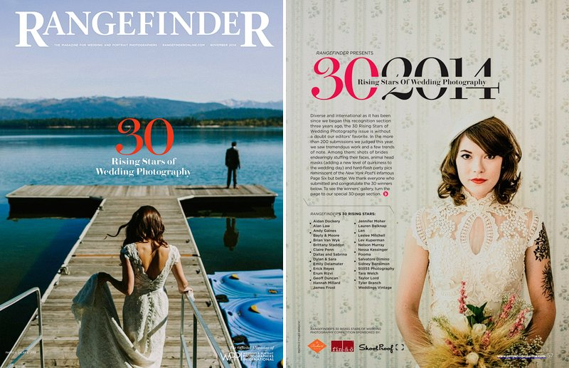 Rangefinder Magazine Top Wedding Photographers 2014