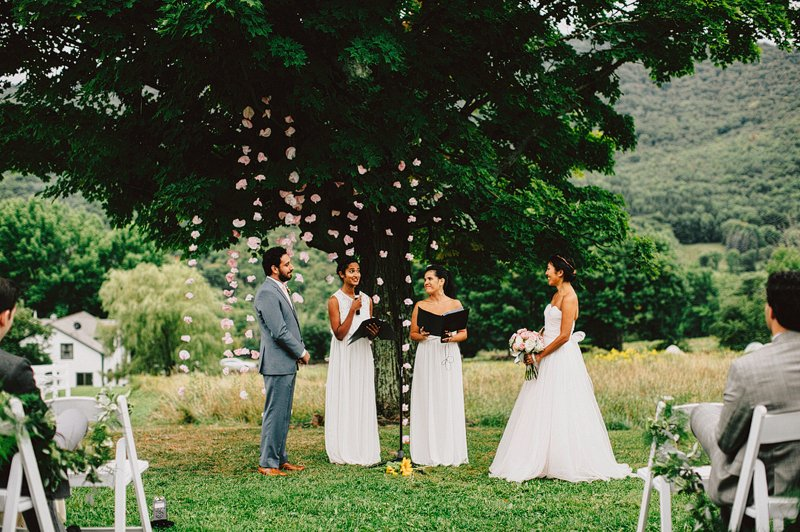 summer wedding ceremony outside