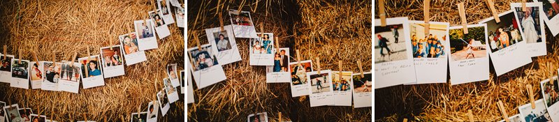 polaroid escort cards wedding